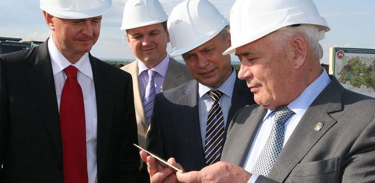 Церемония закладки первого строительного блока энергоцентра