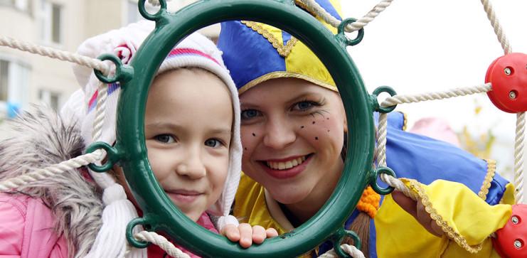 Церемония открытия детской игровой площадки Связист